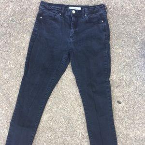 Topshop Washed Black Sidney Jeans